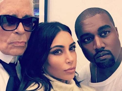 Kanye West dan Kim Kardashian Siapkan Proyek Rahasia dengan Karl Lagerfeld
