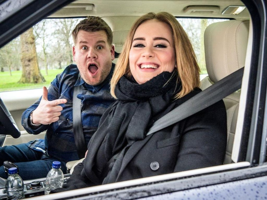 Video Carpool Karaoke Adele Paling Viral di YouTube Sepanjang 2016