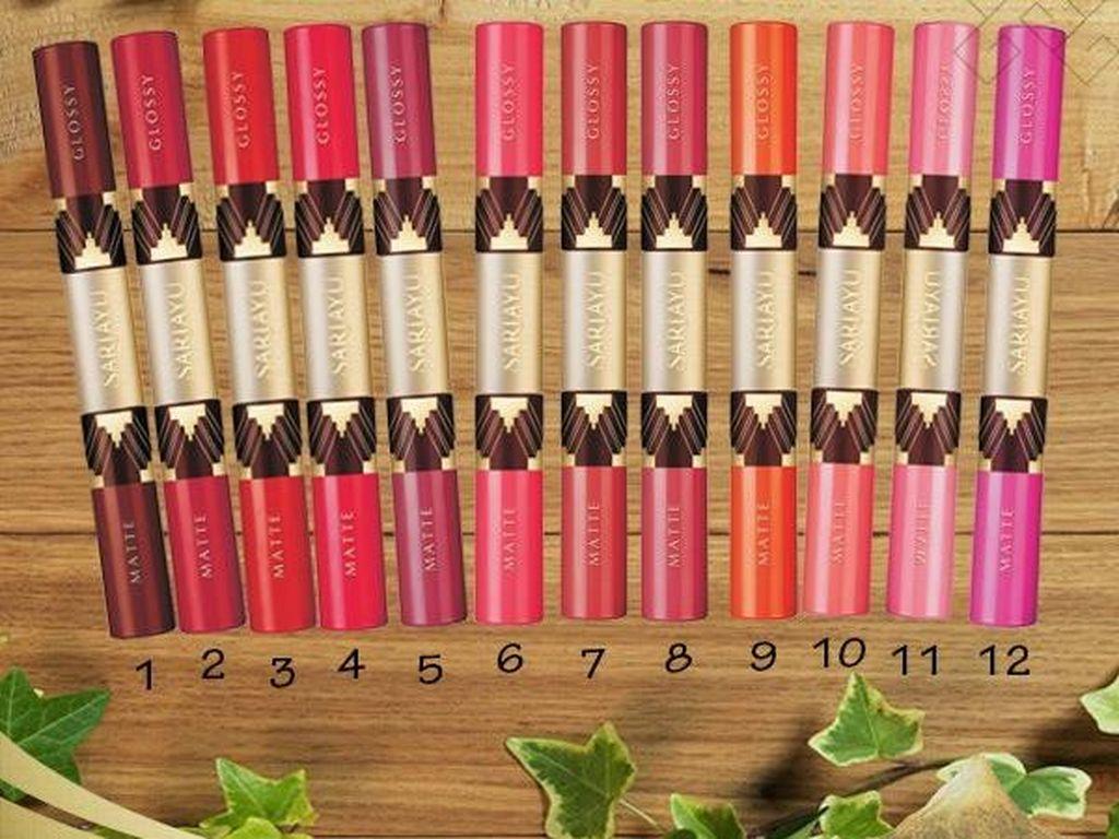 Product Review: Mencoba Lipstik Matte dan Glossy dalam Satu Kemasan dari Sariayu