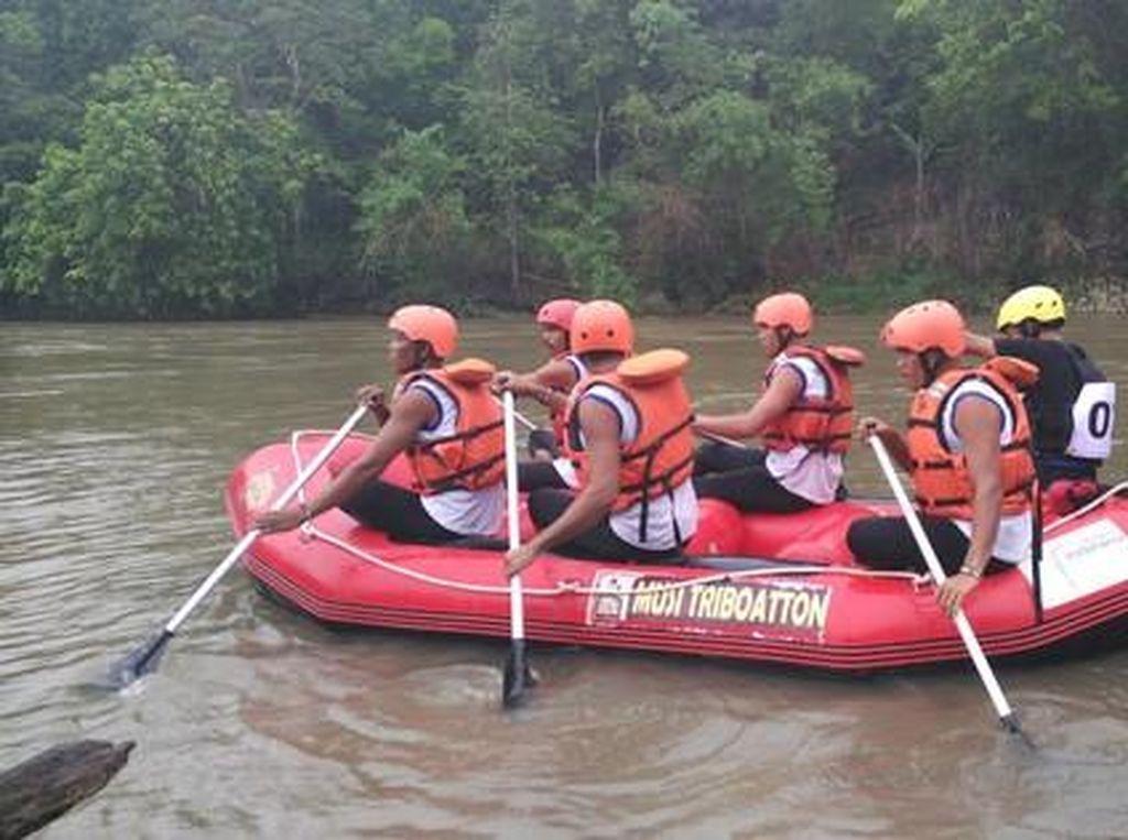 Musi Triboatton, Saat 3 Jenis Perahu Berlomba Taklukan Sungai Musi