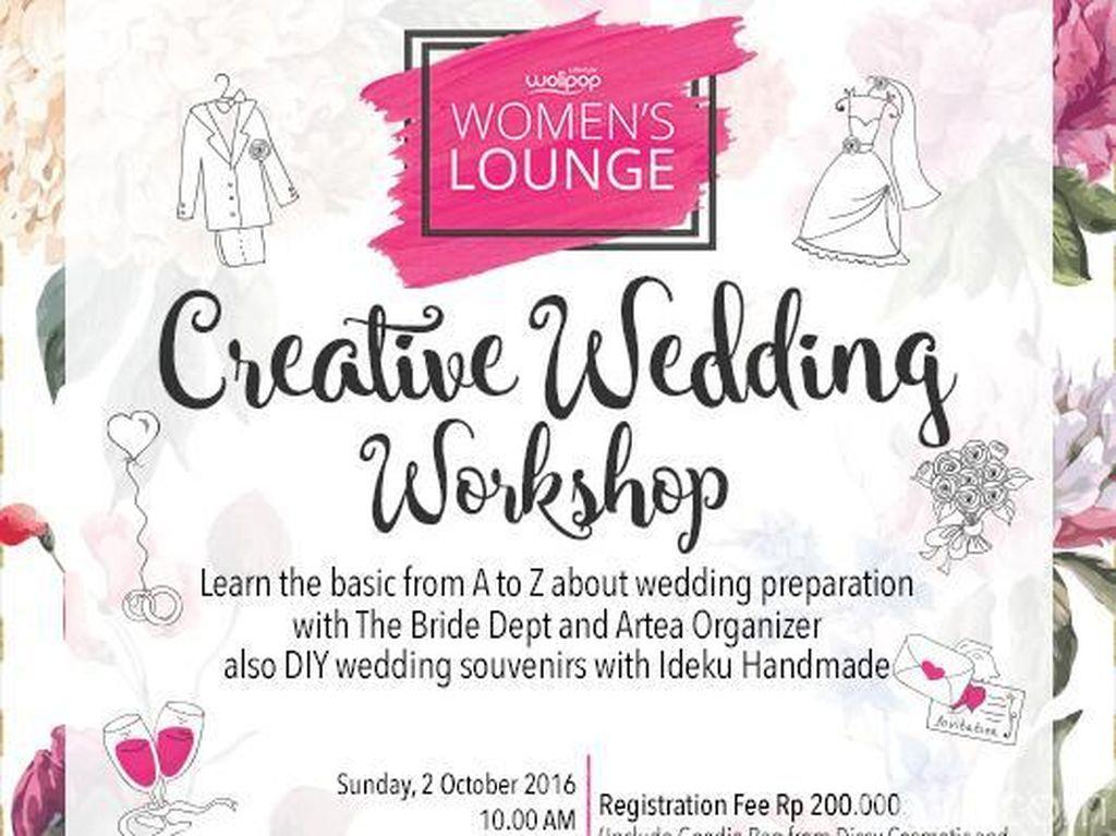 Para Calon Pengantin, Yuk Ikutan Wolipop Creative Wedding Workshop