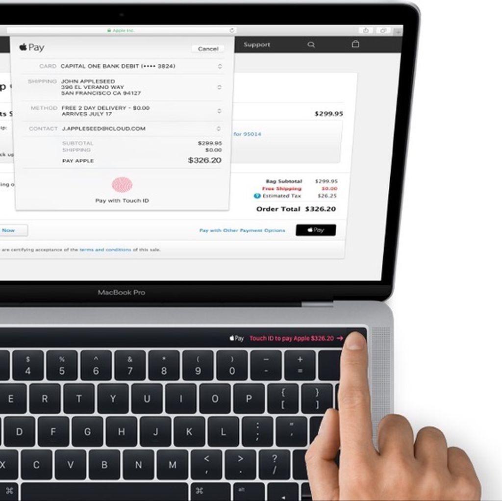 Begini Tampilan OLED Touch Panel di MacBook