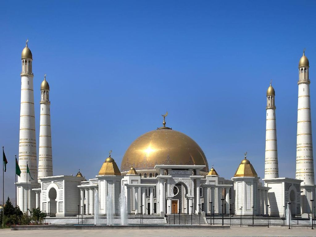 Masjid Turkmenbashi Ruhy di Turkmenistan, Terbesar di Asia Tengah