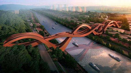 Inikah Jembatan Pejalan Kaki Paling Unik Sedunia?