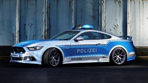 Polisi Jerman Pakai Ford Mustang Modif