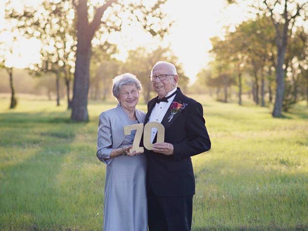 Setelah 70 Tahun, Pasangan Ini Buat Foto Pernikahan untuk Pertamakali