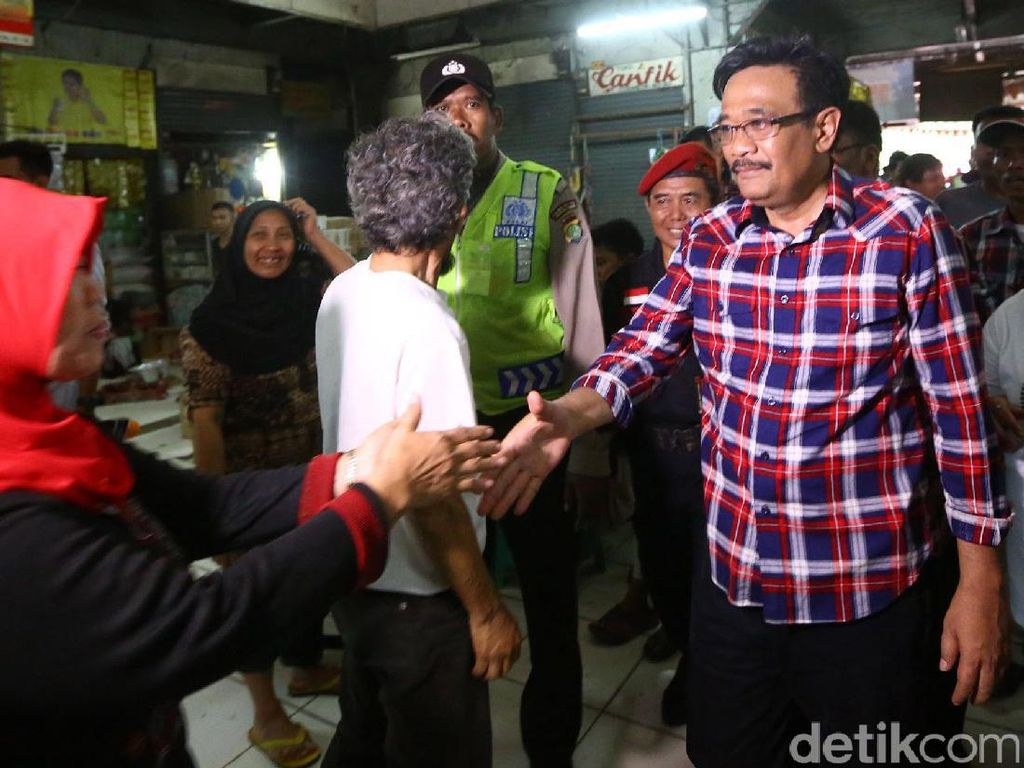 Djarot Kampanye di Kelurahan Kampung Makasar