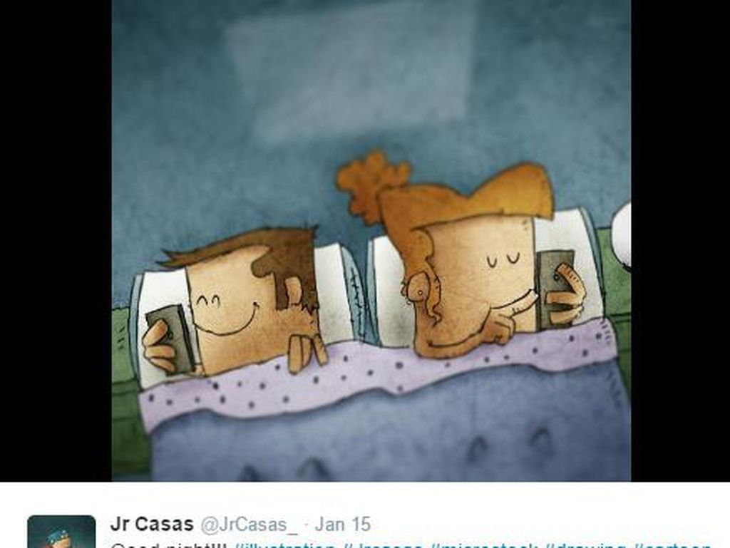Gambar Viral yang Menohok Pengguna Smartphone