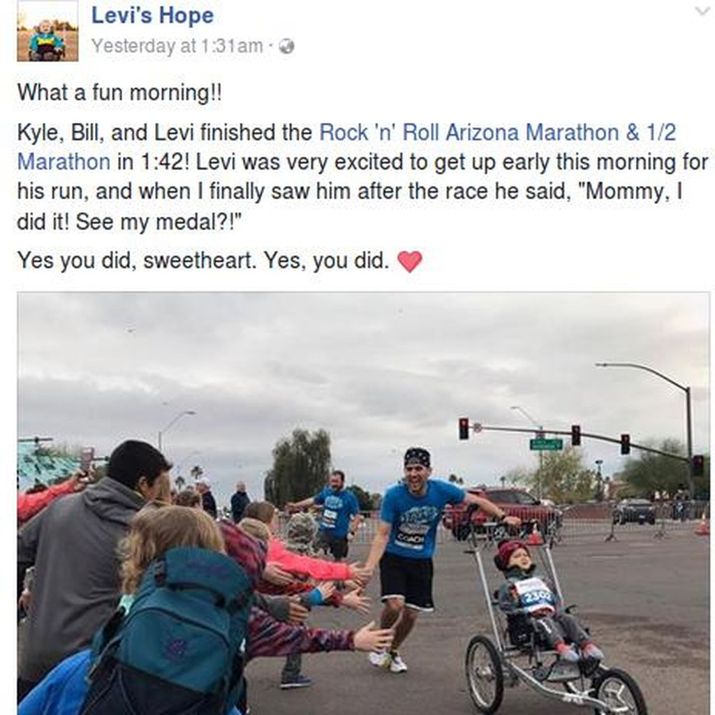 Semangat Bocah 3 Tahun Ikut Maraton Meski Idap Kondisi Langka