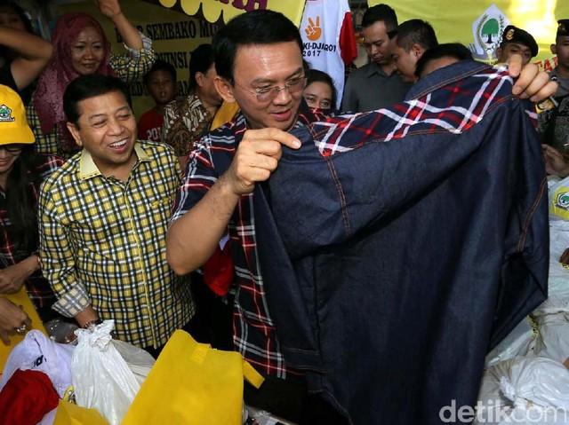 Ahok Hadiri Pasar Murah Syukuran Jakarta
