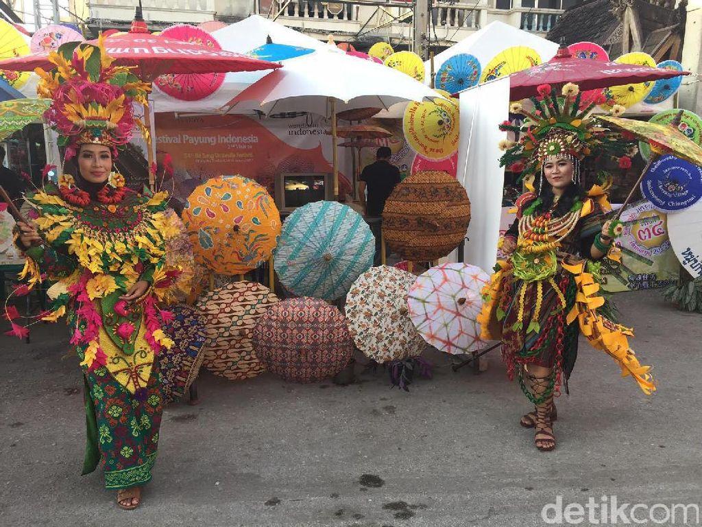 Mengintip Paviliun Indonesia di Festival Payung Thailand