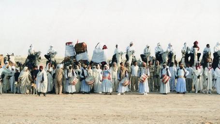 Festival Ratusan Tahun Yang Penuh Unta Di Gurun Sahara Tunisia