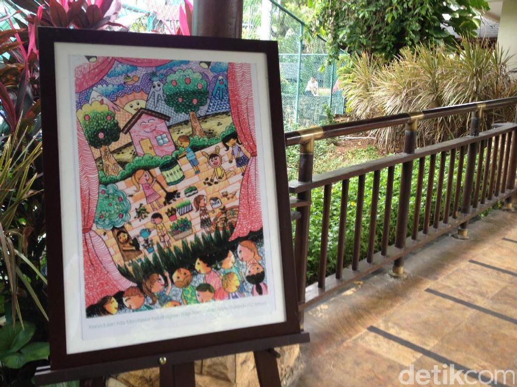Saat Kepedulian Anak pada Lingkungan Diwujudkan dalam Lukisan