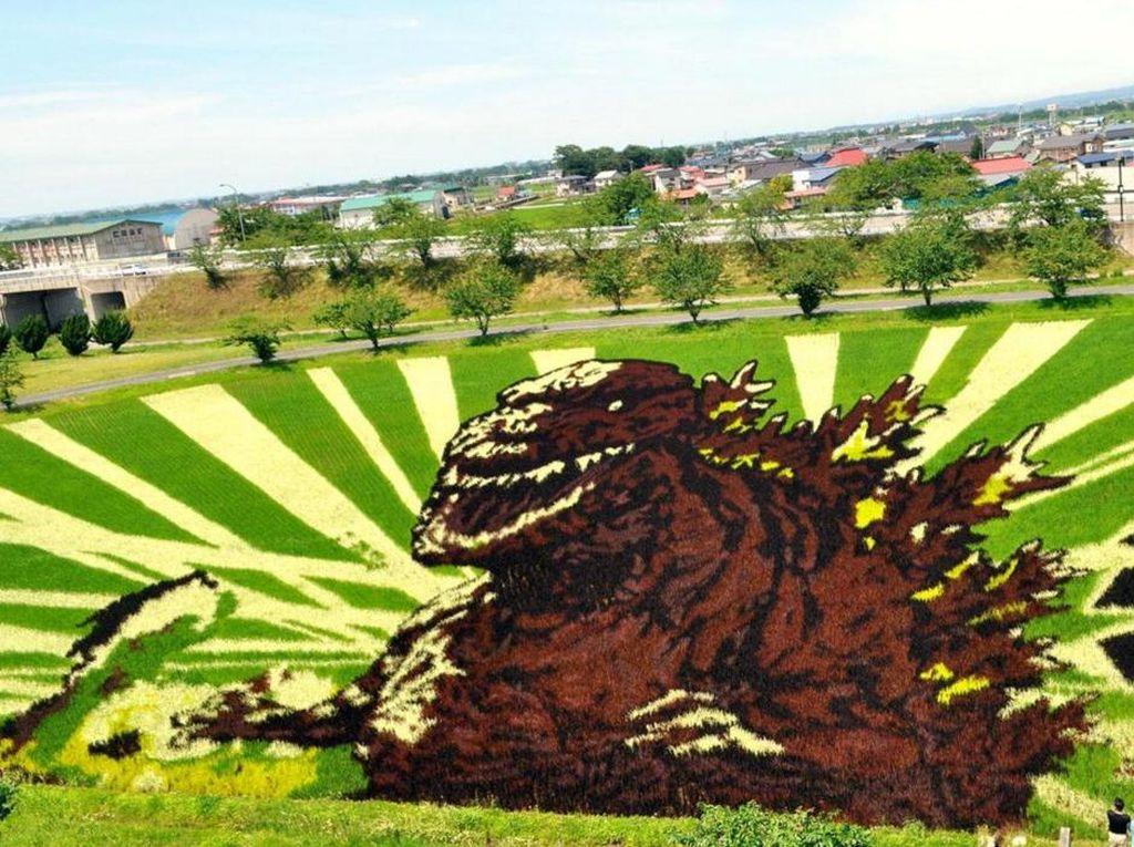 Crop Circle? Bukan, Ini Lukisan 3D Warga Jepang dari Tanaman Padi
