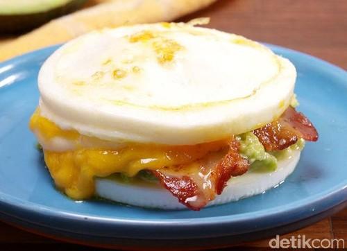 Yuk, Bikin Burger dari Telur yang Gurih Enak Tanpa Roti!