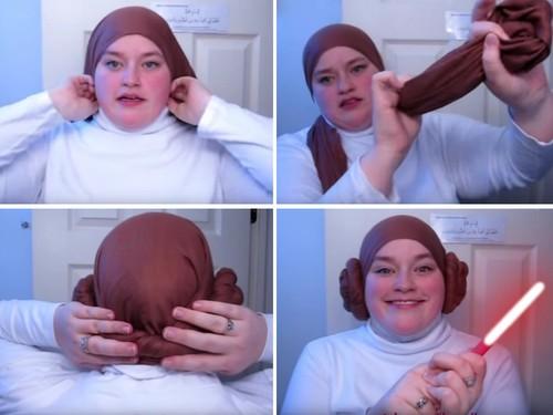 Tutorial Hijab Terinspirasi Gaya Putri Leia di Star Wars