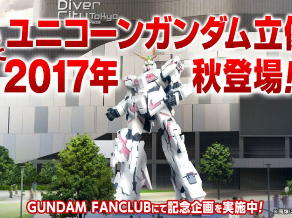 Kabar Gembira! Akan Hadir Robot Gundam Raksasa Baru di Tokyo
