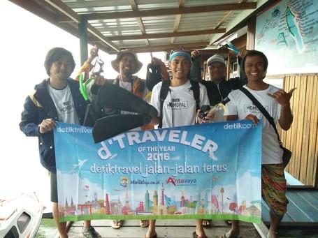Walau Hujan, D'Traveler 2016 Tetap Semangat Hoping Island Di Derawan