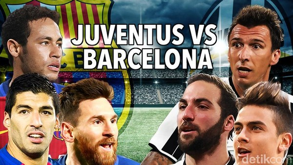 Juventus Hantam Barcelona 3-0