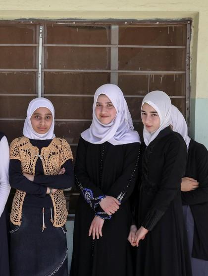 Foto: Cantiknya Murid Berhijab di Mosul Irak yang Pernah Dikuasai ISIS