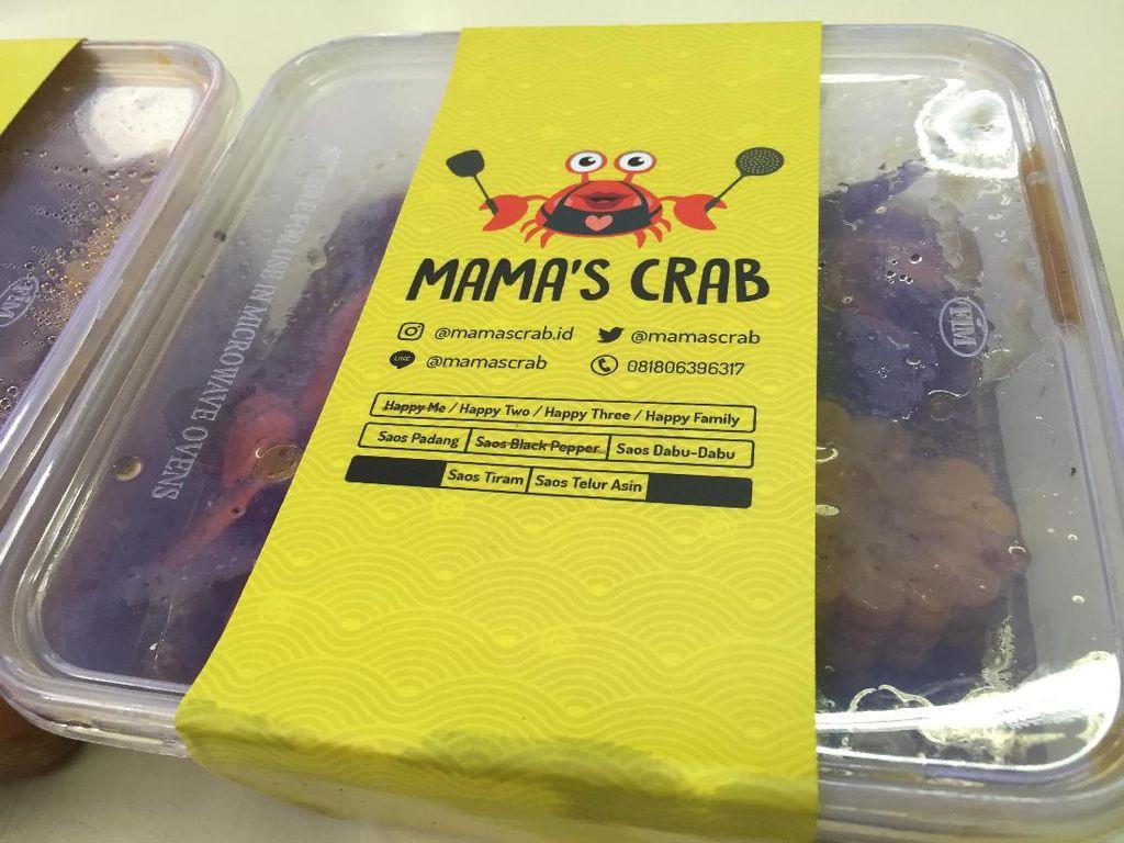 Pemesanan bisa dilakukan via Line (@mamascrab) sehari sebelumnya. Kepiting akan diantar via layanan ojek online.