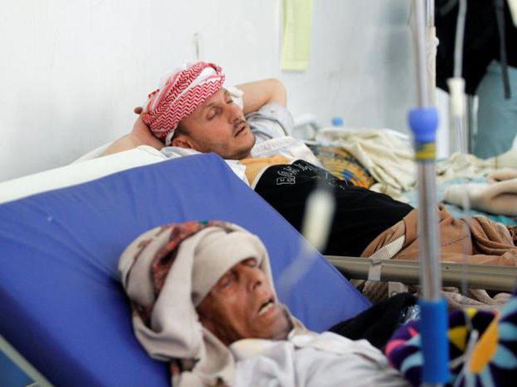 Potret Dampak Wabah Kolera di Yaman