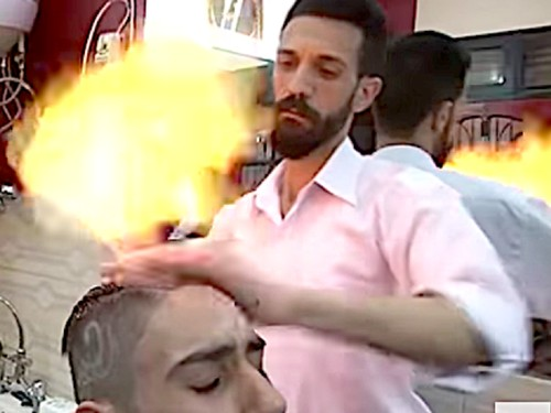 Viral, Salon yang Tawarkan Perawatan Rambut dengan Api Obor