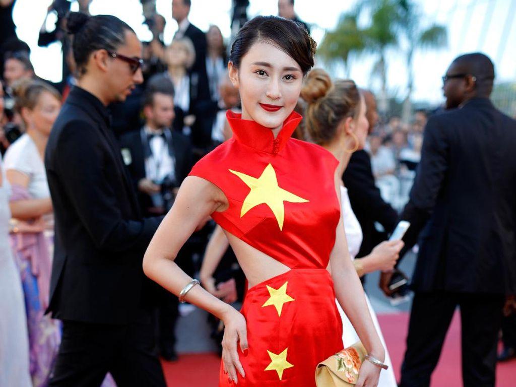 Aktris Pakai Gaun Bergambar Bendera China di Cannes Jadi Kontroversi
