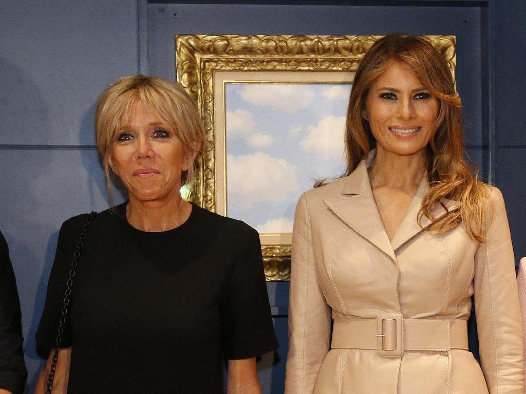 Foto: Adu Gaya Melania Trump Vs. Brigitte Macron di Konferensi NATO