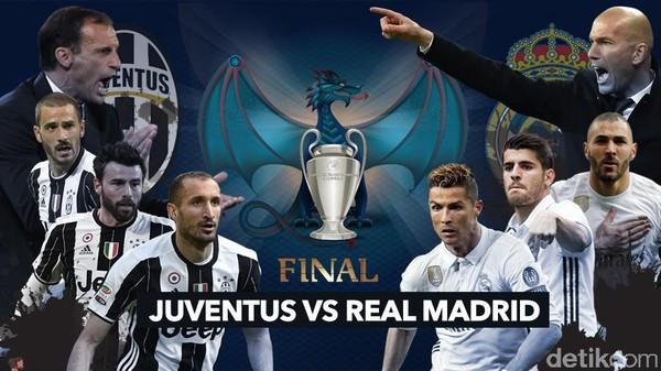 Final Liga Champions: Juventus vs Real Madrid