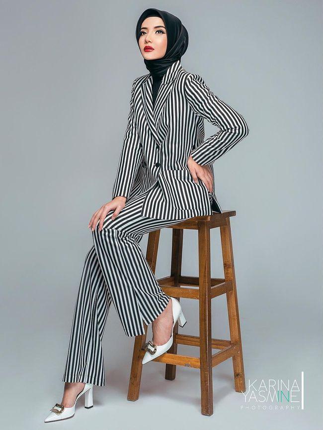 Foto Makin Kurus Stylish 5 Gaya Hijab Terkini Zaskia Sungkar