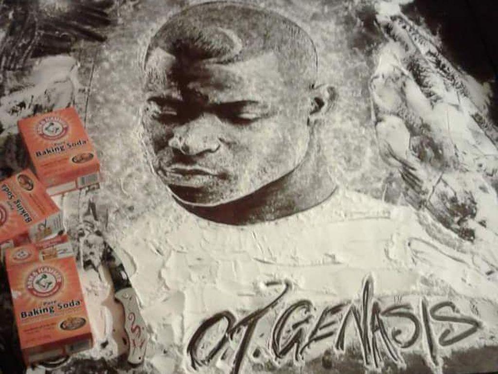 Penyanyi hip hop, O.T. Genasis dibuat oleh Wallace dengan baking soda. (Foto: Istimewa)