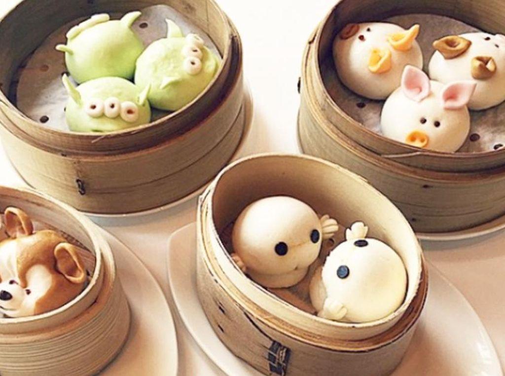 Hong Kong Disneyland punya beragam sajian dim sum berbentuk lucu. Hayo, mau pilih yang mana? (Foto: Istimewa)