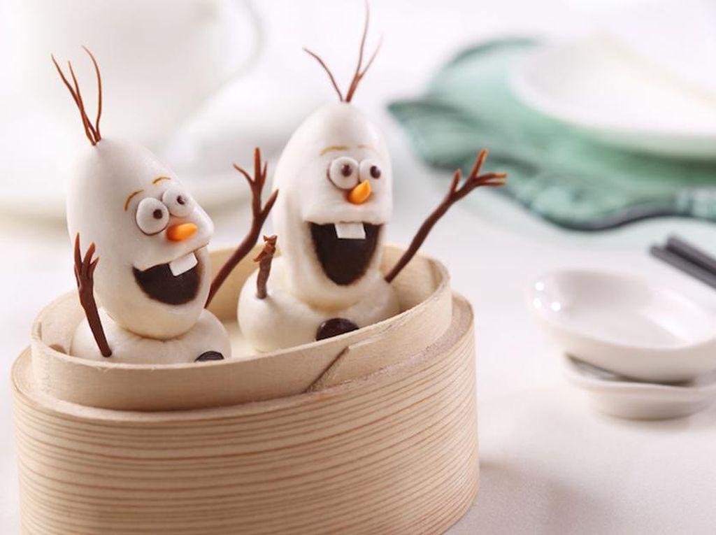 Hong Kong Disneyland juga punya Dim Sum berbentuk Olaf. Mirip gak? (Foto: Istimewa)