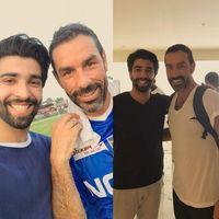 Baru-baru ini, ia mengunggah foto bersama dua legenda sepakbola, Ryan Giggs dan Robert Pires. (Foto: instagram/RehanMunir)