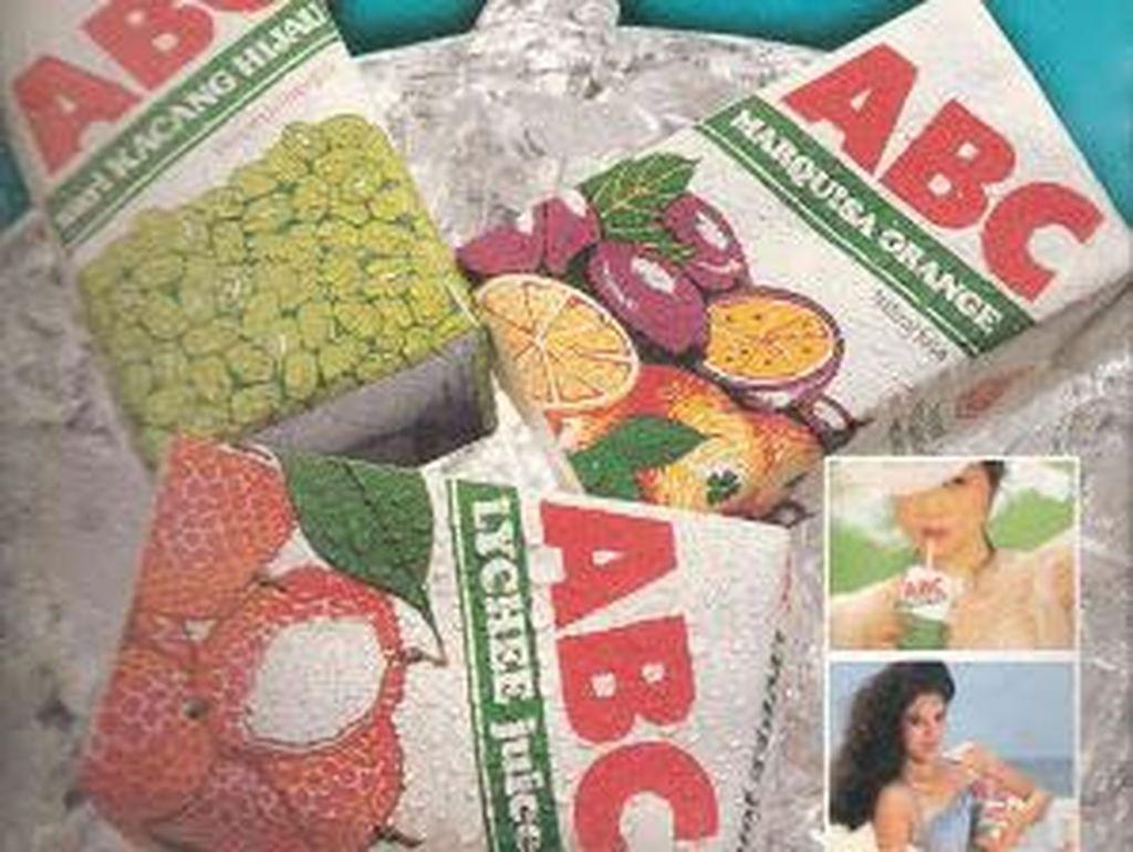 Meskipun sedehana desainnya, iklan jus buah kemasan ini lumayan populer. Apalagi ABC termasuk pelopornya!