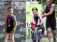Bailey Matthews berusia 10 tahun dan kesulitan berjalan karena cerebral palsy. Namun di tahun 2015 ia menjadi inspirasi banyak orang ketika berhasil menyelesaikan sebuah perlombaan triathlon bersama ayahnya. (Foto: Cactus Image)