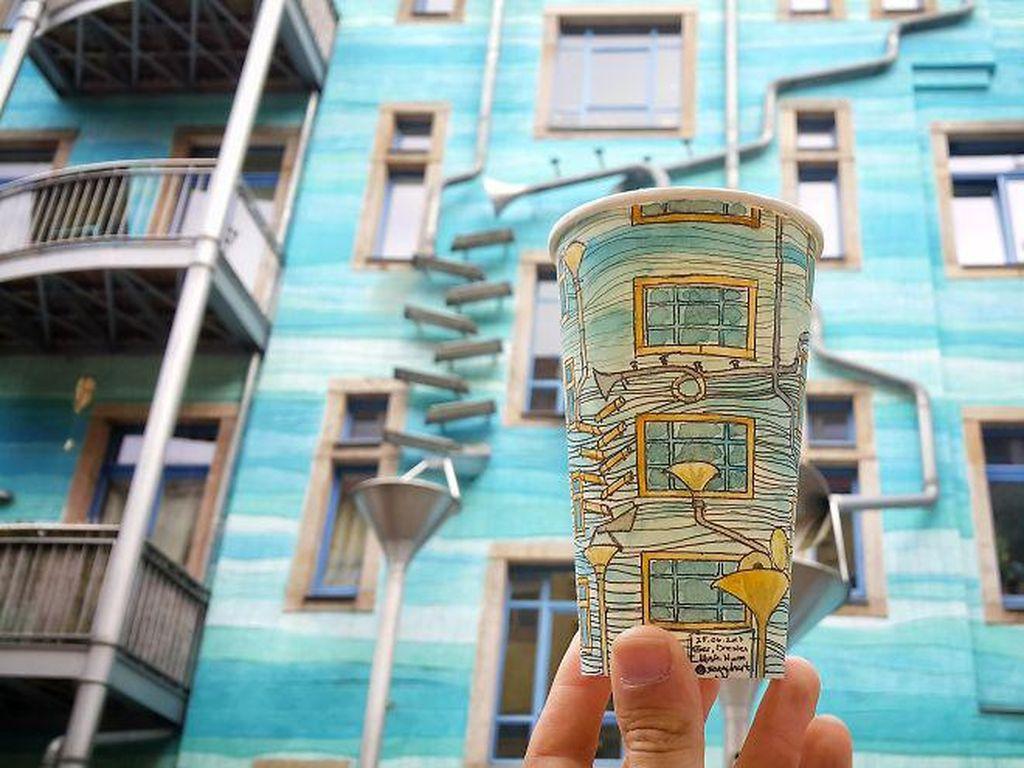 Lihat deh, salah satu bangunan di Dresden, Jerman ini juga jadi inspirasi Armagan. (Foto: Berk Armagan)