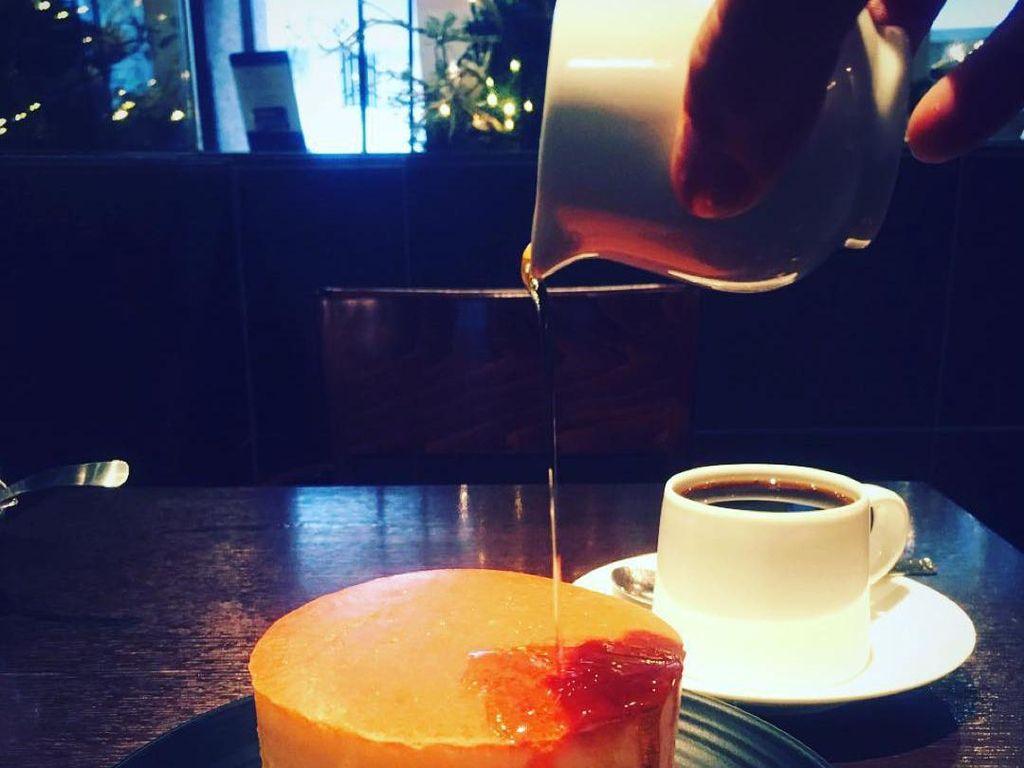 Mijinko, Yushima dikenal dengan pancake yang paling lembut dan fluffly di Tokyo. Hanya disajikan dengan maple syrup. Alamat: 1F,2-9-10 Yushima, Bunkyo-ku, TokyoFoto: Istimewa