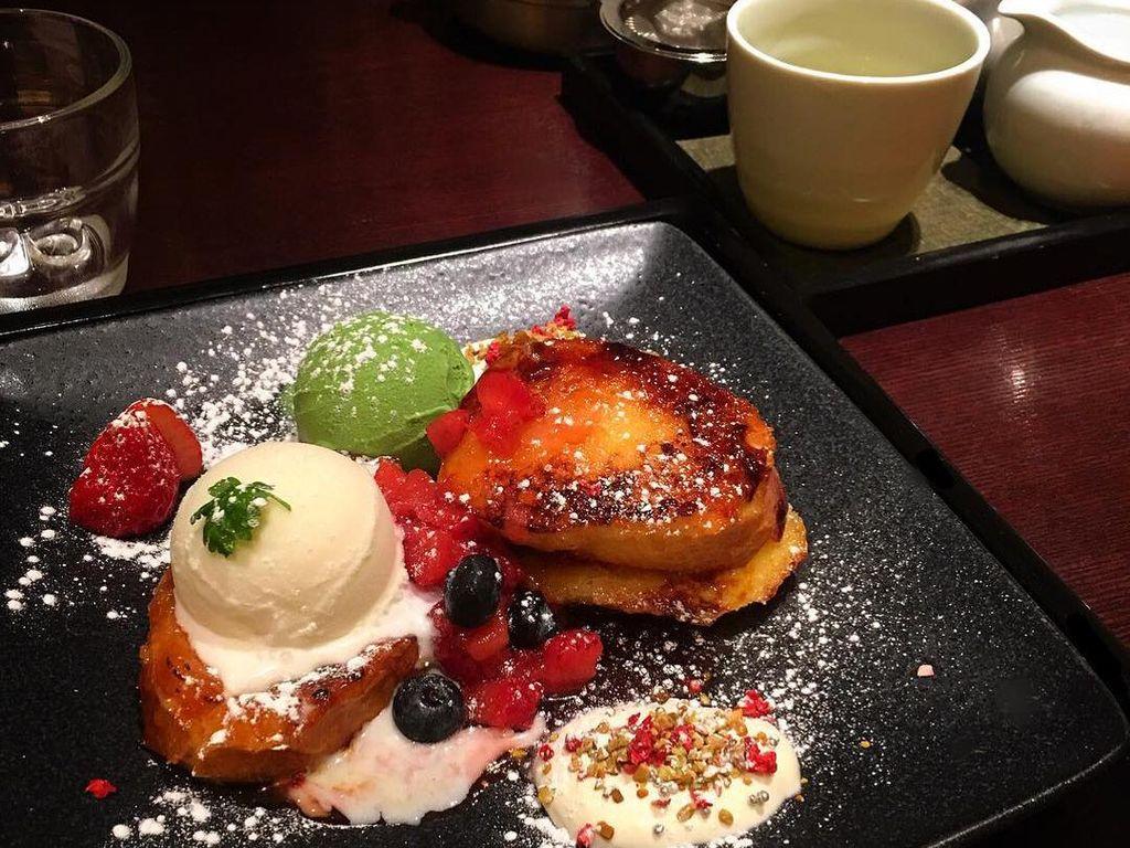 Penyuka green tea harus cicipi pancake matcha di sini. Kafe Kyo Hayashiya sebagai cabang dari Kyoto. Alamat : Seibu Ikebukuro Honten 8F, 1-28-1 Minami Ikebukuro, Toshima-ku, TokyoFoto: Istimewa