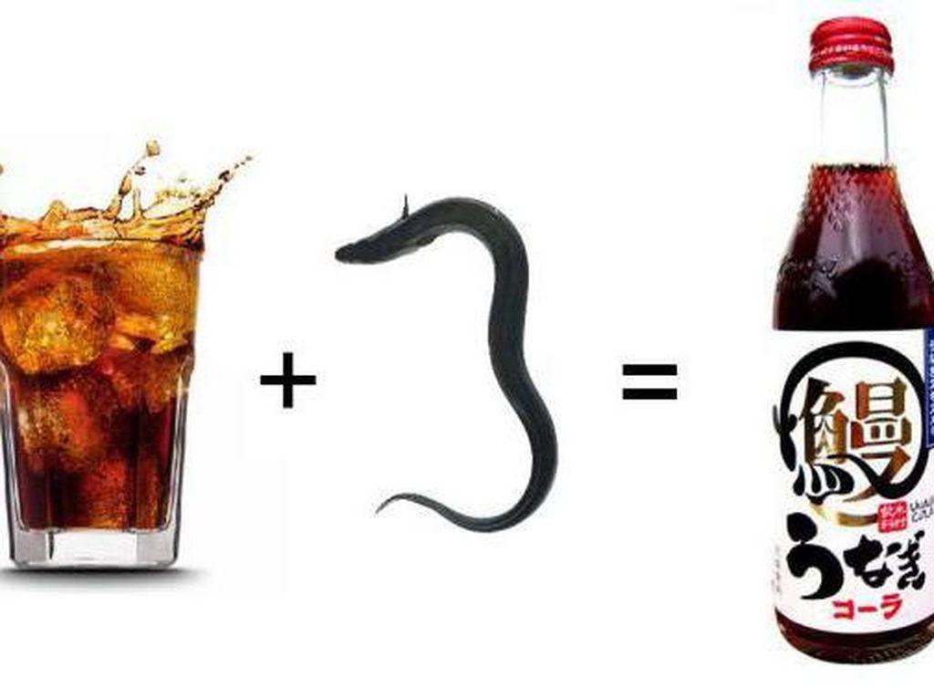 Bagaimana kalau mencoba minuman bersoda dengan rasa belut panggang? Rasanya manis, amis atau bahkan gurihya? (Foto: Istimewa)
