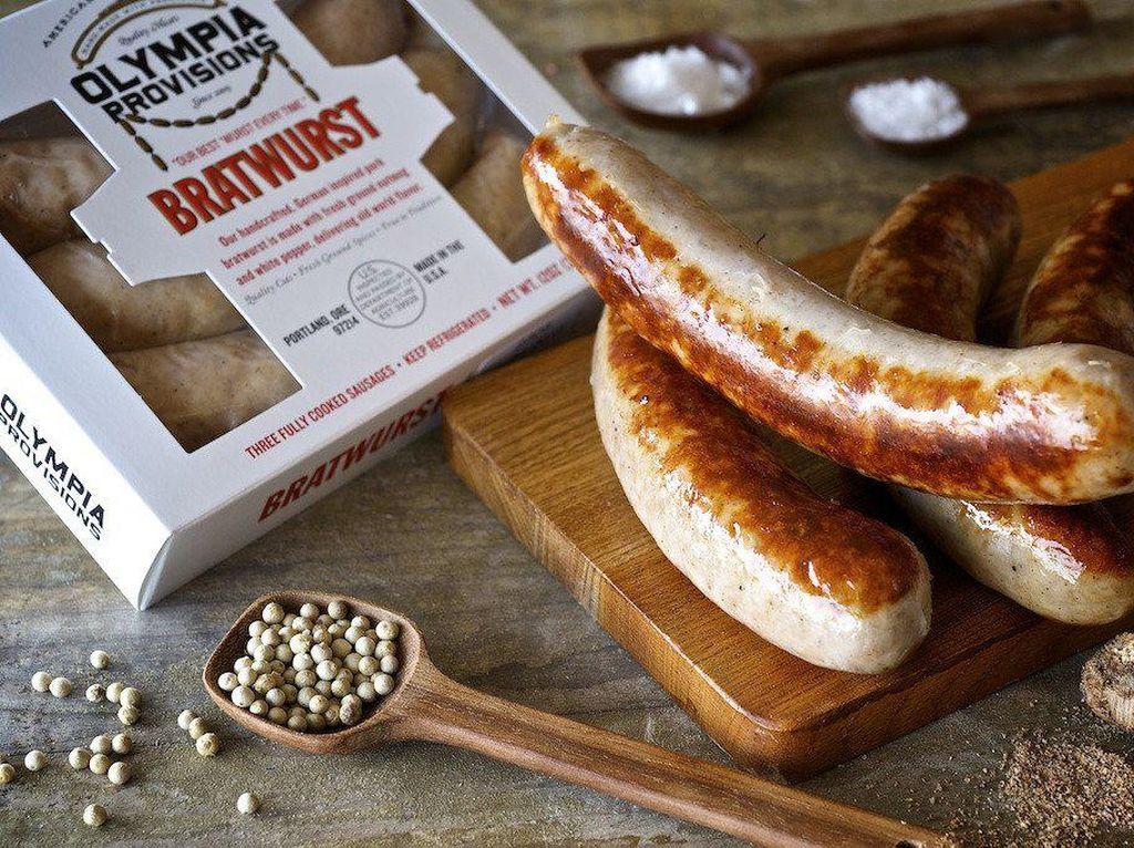 Tidak hanya menjadi negara penghasil roti terbesar, Jerman juga kaya akan olahan daging. Salah satunya sosis bratwurst yang populer di dunia. Foto: Istimewa