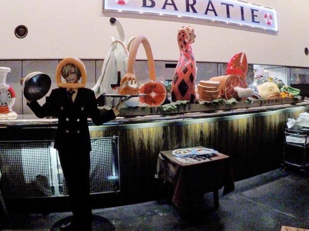 Baratie One Piece Restaurant terinspirasi oleh salah satu anime populer yaitu One Piece. Menu hidangan di restoran ini dikaitkan dengan tokoh yang ada dalam anime tersebut. Foto: Istimewa