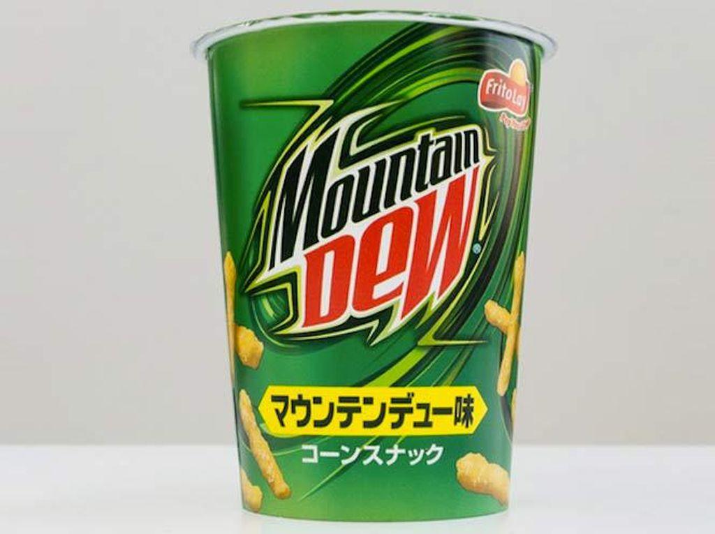 Soft drink Mountain Dew juga pernah jadi inspirasi snack di Jepang. Ada-ada saja! Foto: Istimewa