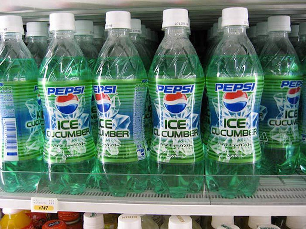 Ice Cucumber Pepsi tampak menyegarkan. Bayangkan soda dengan rasa mentimun. Foto: Istimewa