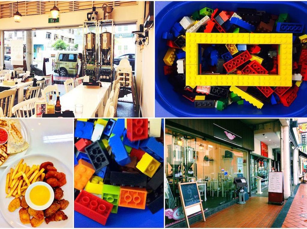 Si kecil senang main lego? Bricks NCubes di Joo Chiat Road jadi pilihan yang pas. Mereka juga bisa mencicip rainbow cake, lava cake hingga cake bentuk burung hantu di sini. Foto: Singapore Motherhood