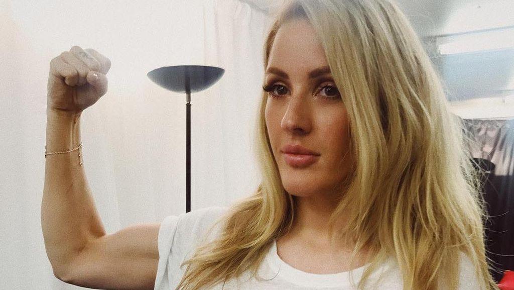 Foto: Ellie Goulding Kalahkan Gangguan Cemas dengan Boxing